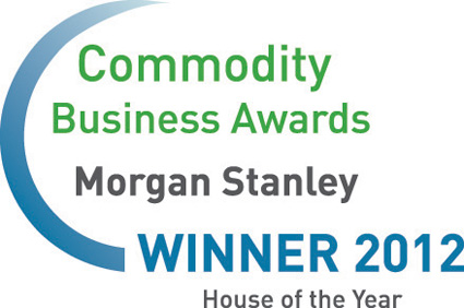 Morgan Stanley, Commodity Business Awards winner, 2012